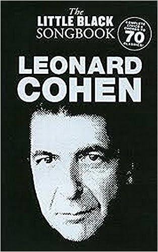 Amazon Leonard Cohen The Little Black Songbook Chordslyrics