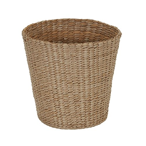 Household Essentials ml-6634 Cattail and Paper Waste Basket, Cream, Tan by Household Essentials