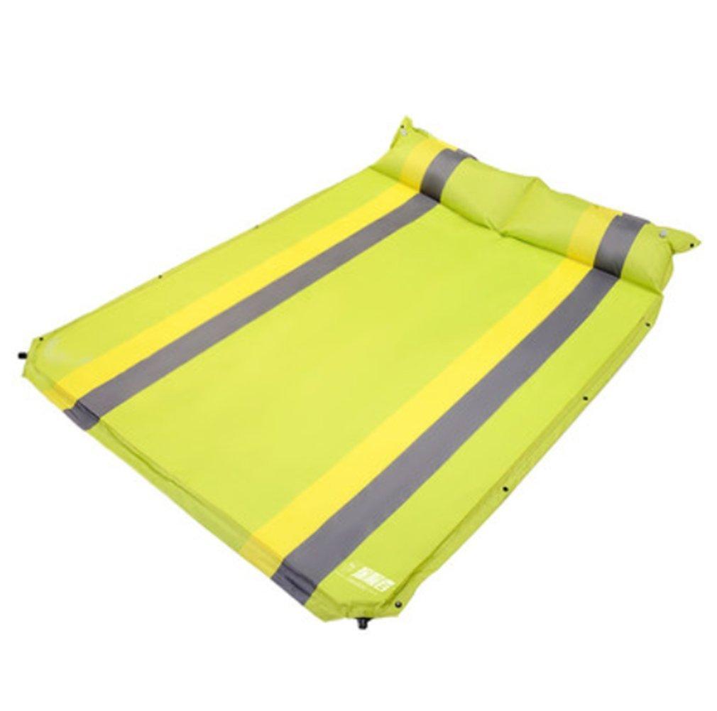 自動インフレータブルクッションテントピクニックマット屋外睡眠パッドポータブル超軽量折りたたみ可能な水分パッド肥厚フィールドマット B07F8XHM1C Yellow Yellow