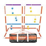 Harvil Premium Ladder Toss Game Set. Includes Soft Bolos, 2 Targets, and Carrying Case