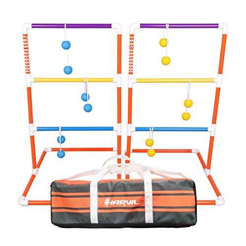 Harvil Premium Ladder Toss Game Set. Includes Soft Bolos, 2 Targets, and Carrying Case by Harvil