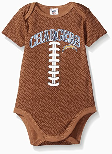 NFL San Diego Chargers Boys Football Bodysuit, 3-6 Months, Brown