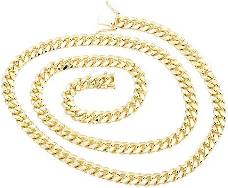 IcedTime 14K White Gold Cable Chain 16 inch long x2.3mm wide
