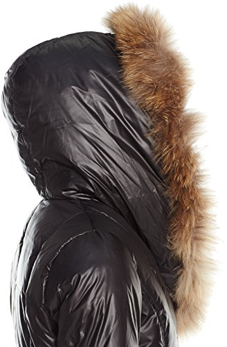 Fur Jasmine Coat Hood Outerwear Rudsak Down Rud with Down Womens Trim Coat Black by 2116987 Belted zq6IS
