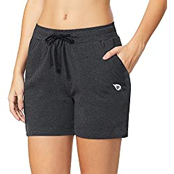 Baleaf Women's Activewear Yoga Lounge Shorts with Pockets Charcoal Size L
