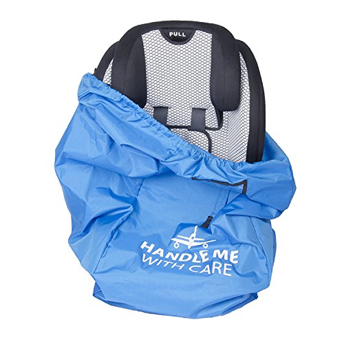 Car Seat Travel Bag - Airport Gate Check Bag W/ Adjustable Shoulder Strap & Carrying Pouch - 600D Nylon - Universal Fit - Durable & Lightweight - Easily Identifiable - Insert Name Card - & For storage (B Agile Car Seat Covers compare prices)