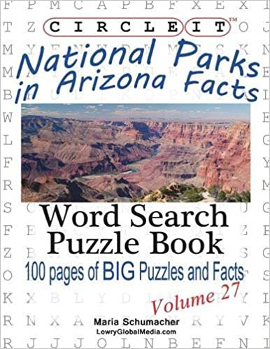 Book Circle It, National Parks in Arizona Facts, Word Search, Puzzle Book