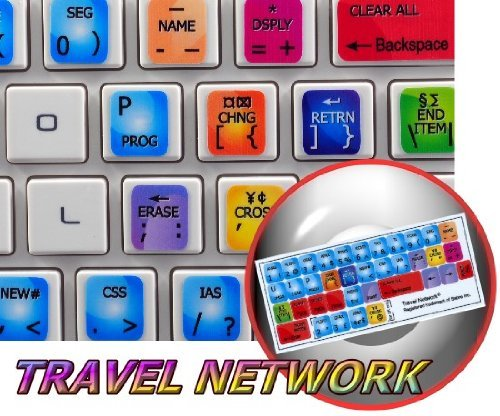 NEW SABRE TRAVEL NETWORK STICKER FOR KEYBOARD