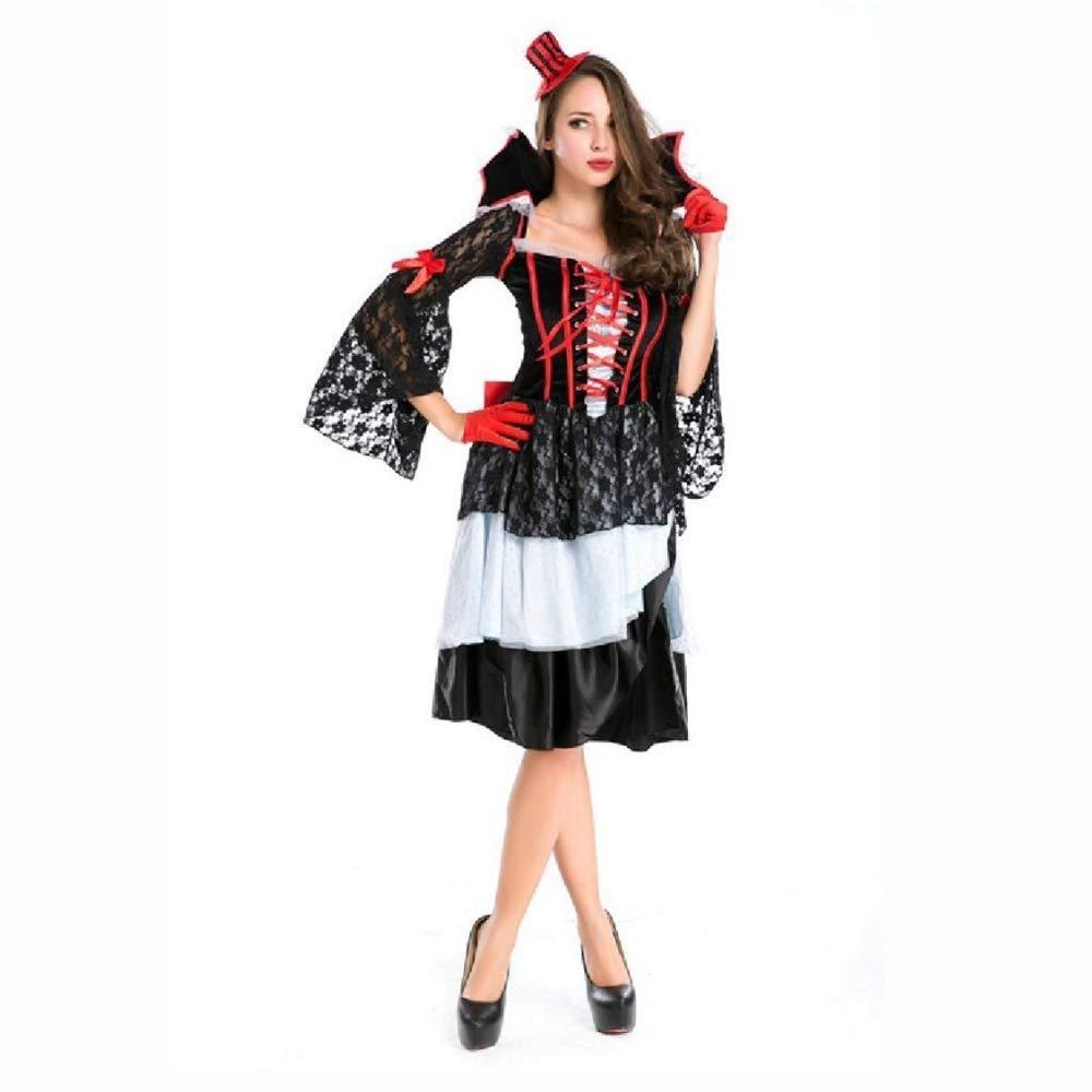 Olydmsky karnevalskostüme Damen Dämon Halloween Kostüm Kleid Witch Queen Change Weihnachten Kleid Kostüm