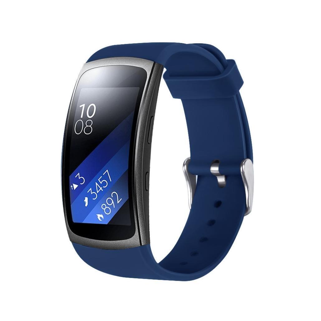 para samsung gear fit 2 pro correas Sannysis Samsung Gear correas y conector de banda de Samsung Gear Fit 2 Pro reemplazo del reloj de silicona ...