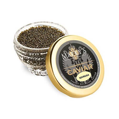 Marky's Sevruga Sturgeon Black Caviar, Malossol - 1.75 oz (Cristal Gift (Cristal Brut Champagne)