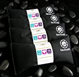 Happy Wraps Namaste Yoga Eye Pillows | Lavender Eye Pillow for Yoga | Set of 4 | Black Cotton
