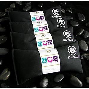 Happy Wraps Namaste Yoga Lavender Eye Pillow Black Set of 4