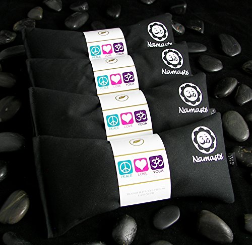 Namaste Yoga Unscented Eye Pillow - Black - Set of 4 by Happy Wraps®