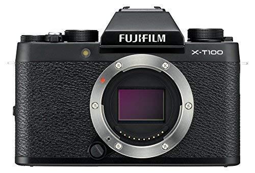 Fujifilm X-T100 Mirrorless Digital Camera - Black (Renewed)