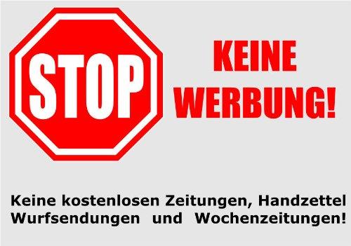 Keine Werbung 2 Briefkastenaufkleber Keine Kostenlosen Zeitungen Handzettel Wurfsendungen Und Wochenzeitungen Absolut Wetterbestandig 74x52