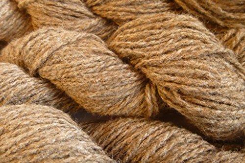 (Cinnamon brown Worsted Polyester Wool Blend Knitting Crochet Rug Yarn)