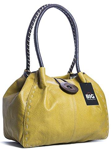 2 z a spalla One Shop Borsa Handbag Senape Big donna grado PU qvwFaxC