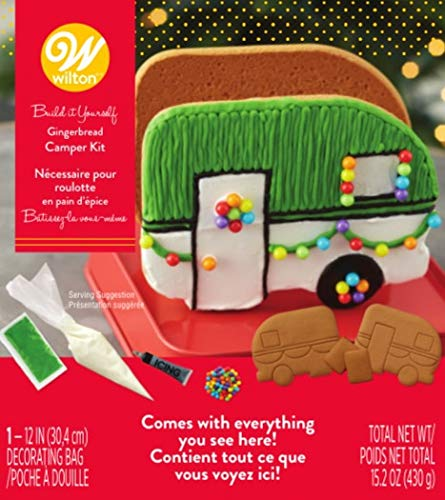 Wilton W46872 Unassembled Gingerbread Camper Kit