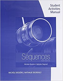 Book Student Activities Manual for Bissiere's Sequences (with Premium Website Printed Access Card) 3rd edition by Michèle Bissière, Nathalie Degroult (2015)