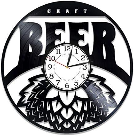 Kovides Craft Beer Birthday Gift Idea Drink Vinyl Clock 12 Inch