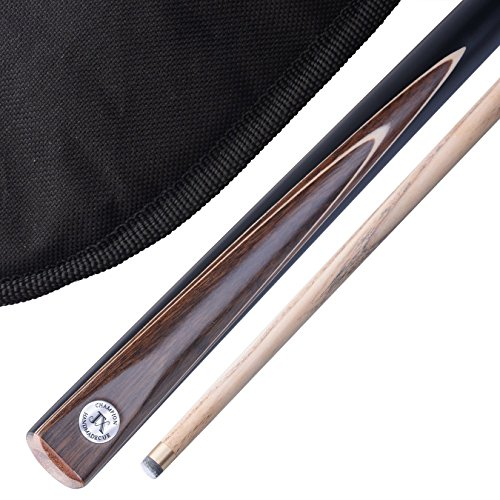 Stunning Handmade 2 piece 57' Snooker Cue / Pool Cue - Carry Case