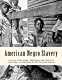img - for American Negro Slavery: A Survey of the Supply, Employment and Control of Negro Labor as Determined by the Plantation Regime (Black American Studies) book / textbook / text book