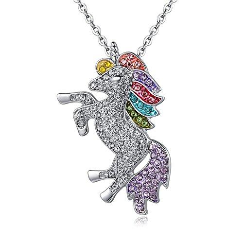 Unicorn Necklace - Rainbow Unicorn Necklace For Girls - Unicorn Rainbow Necklace - GOD OF GIFTS