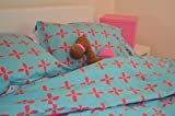 Flower Print Organic Cotton Duvet Cover Set - Twin