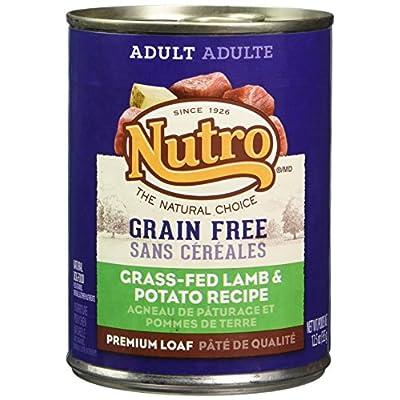 Nutro 50411593 Grain Free Grass Fed Lamb & Potato Recipe Can Dog Food, 12 Ea/12.5Oz