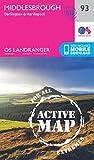 Middlesbrough, Darlington & Hartlepool (OS Landranger Active Map)