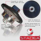 diamond profile wheel 3/8 inch radius - Demi Half Bullnose B10 Router Bit For Marble Stone Granite Edges By STADEA
