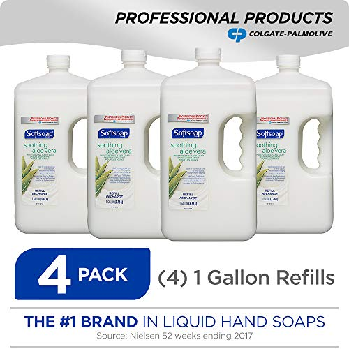 SOFTSOAP Liquid Hand Soap Refill, Soothing Aloe Vera, 1 Gallon (Pack of 4) (201900)
