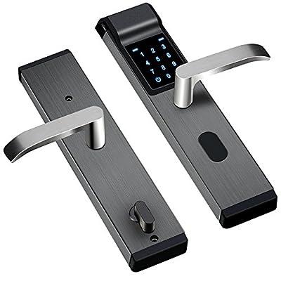 New Concept in Digital Door Lock Keyless Push Pull Smart Door Lock Touchscreen Keypad Lever Lockset with Knob Handle Stainless Steel.