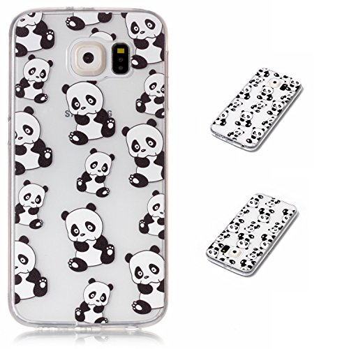 Price comparison product image Galaxy S6 Case,  S6 Case,  DAMONDY Colorful Print Patterns Relief Ultra Thin Slim Back Skin Gel Full Body Protective TPU Case Phone Cover For Samsung Galaxy S6 (G920)-panda