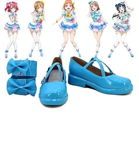 Lovelive!Sunshine!! Takami Chika Cosplay Shoes Boots Custom Made