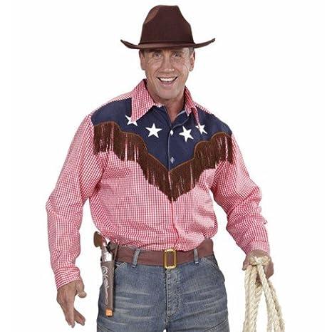 ace00b3fe Camisa Western Camiseta para hombre Disfraz Rodeo Cowboy Texas salvaje  revólver Held Saloon  Amazon.es  Juguetes y juegos