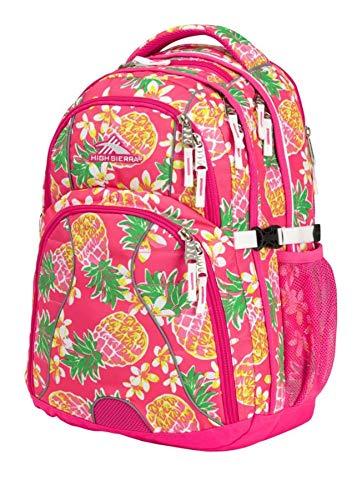 High Sierra Swerve Laptop Backpack, Flamingo/Pink Pineapple