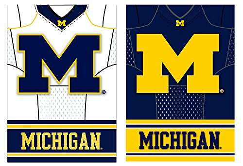 Team Sports America Michigan Wolverines Double Sided Jersey