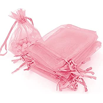 Amazon.com: Dealglad 50pcs Drawstring Organza Jewelry Candy ...