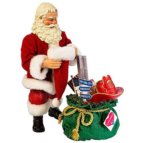 Kurt Adler 9-11 Santa Figurine, 10-Inch