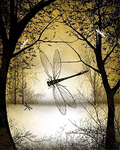 - DIY 5D Diamond Painting Kit for Adults Children, NYEBS DIY Painting with Diamonds Animal Full Square Drill Forest Dragonfly Rhinestone Embroidery Arts Craft Supply for Wall Decoration 12X16 inches