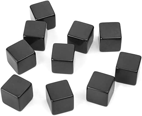 10pcs 16mm blank white can write dice counting cubes square gaming diceSN