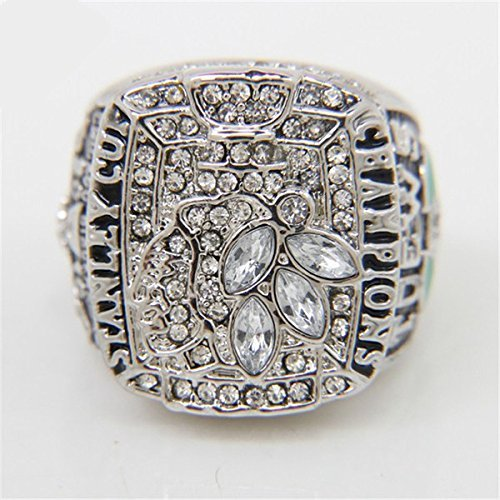 fan products of 2010 Replica Ice Hockey Chicago Black Hawk Championship Ring for Fans Size 11