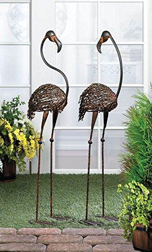 VERDUGO GIFT Wild Flamingo Garden Art Duo