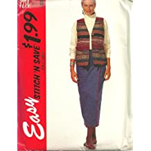 Misses Lined Vest And Wrap Skirt McCall's Sewing Pattern 7214 (Size B: 14-16-18-20) by McCall's