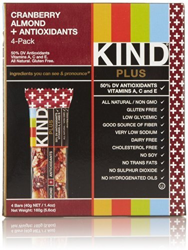 Only 1 in Pack Kind Cranberry Almond + Antioxidants, 4 Bars