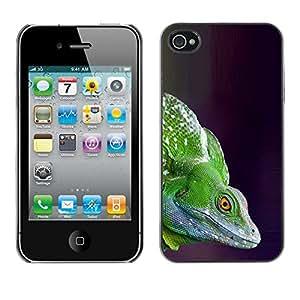"For Apple iPhone 4 / 4S Case , Camaleón del lagarto verde Commando"" - Diseño Patrón Teléfono Caso Cubierta Case Bumper Duro Protección Case Cover Funda"