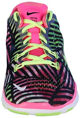 Nike Womens Gratis 5.0 Training Pasvorm 4 Loopschoenen-roze Pow / Volt / Zwart-9.5