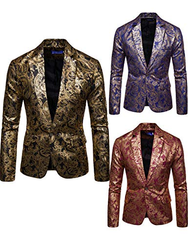 Men's Luxury Dress Suit Notched Lapel Slim Fit